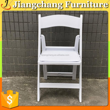 Outdoor White Resin Folding Chair For Wedding