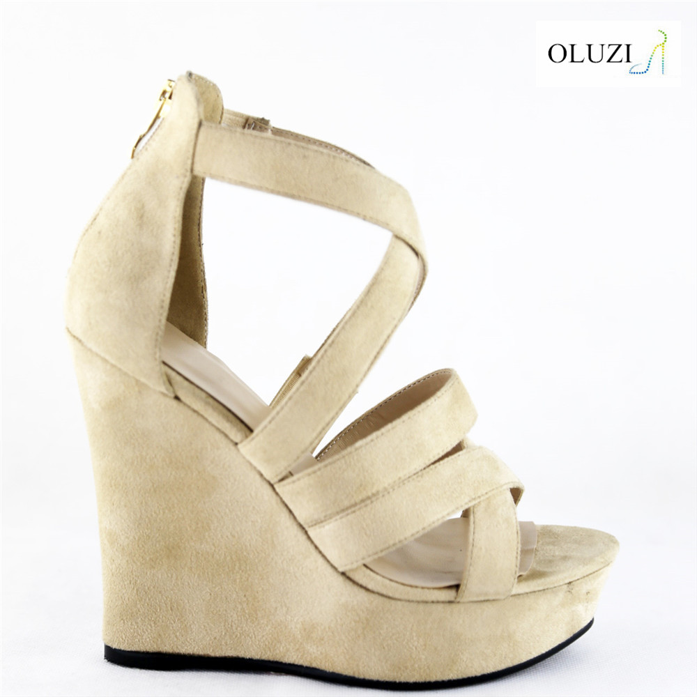 OLNS005 thick strap hidden heel fanshion women wedge shoes retail buying ladies sandals shoes in wholesale