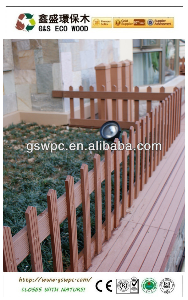 Various types of outdoor wpc fence plastic composite railing