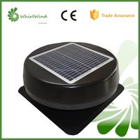 CharmSale Whirlwind round solar panel fixed 12W 12inch solar attic fan