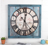 Walden New Products Vintage Square Shape Wooden Wall Clock