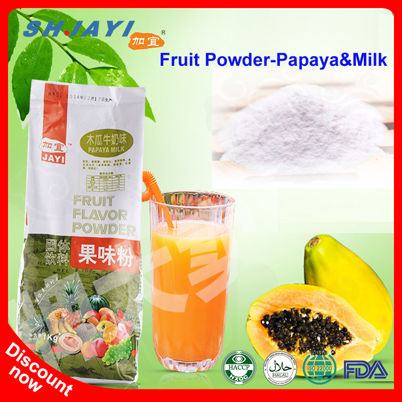 Taiwan Most Popular Products Papaya With Milk Pawpaw Flavor Instant Drink Fruit Powder For Bubble Tea Kiosk