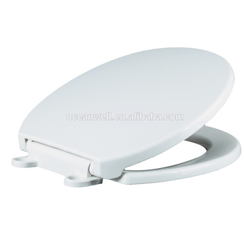 "American standard size 17"" PP Plastic Toilet Seat Cover with Plastic Soft Close Hinge for WC Made in China"