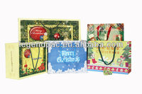 2014 handmade christmas gift packaging bag/ fancy christmas gift paper bag with greeting card