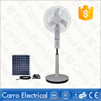 This year 12V selling outdoor/indoor solar AC DC usb led fan