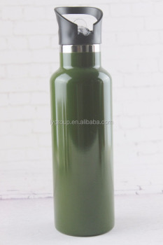 New Product Stainless Steel Insulated Water Bottle Wide Mouth,Double Wall Design With Leak Proof Flip Top Straw Cap