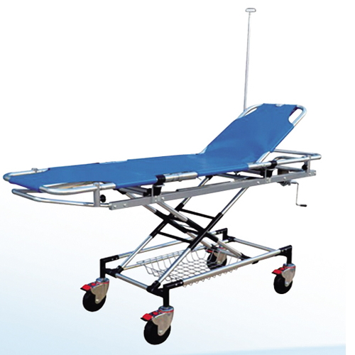 Medical Equipment Height Adjustable Used Ambulance Stretcher Emergency Stretcher Medical Stretcher with Wheels BS-3A-1