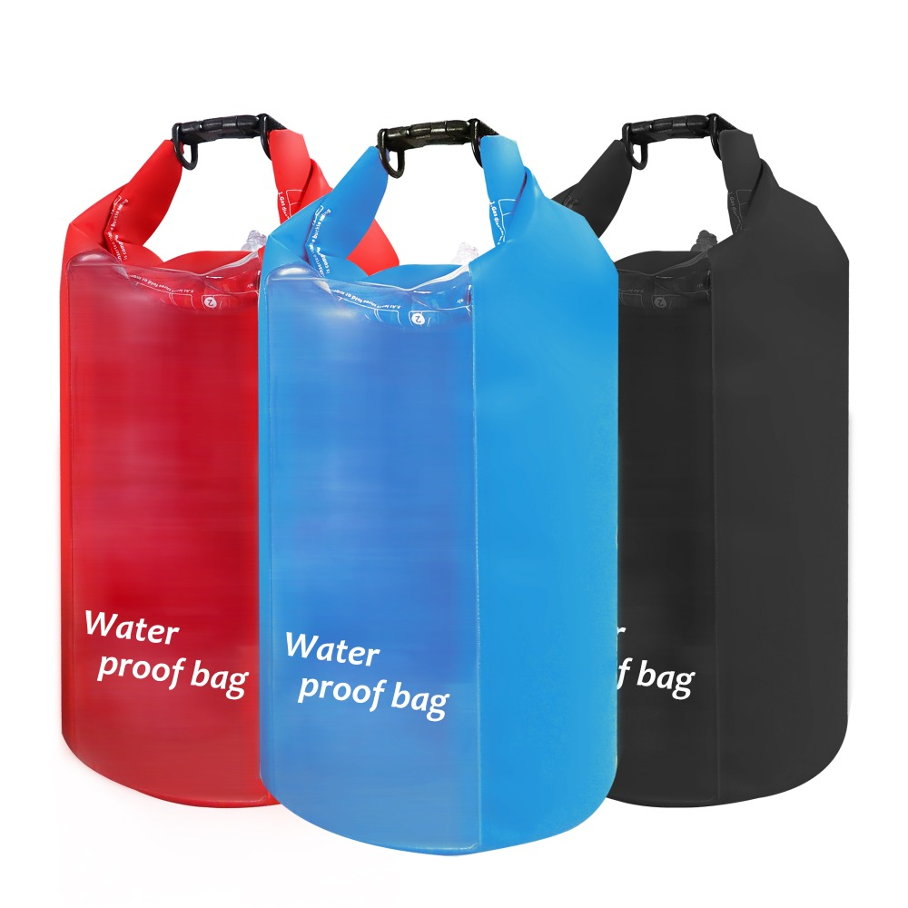 New Design Outdoor Swimming Waterproof PVC Custom Logo Dry Bag For Hiking