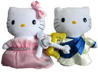 newest pink plush hello kitty in clothing for girl gift