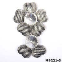 Scarves Shawls Flower Design Antic silver Plating Magnetic Brooch Clip Clasp Pin (MB221-3)