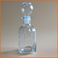 Wholesale fancy perfume glass bottle with glass stopper