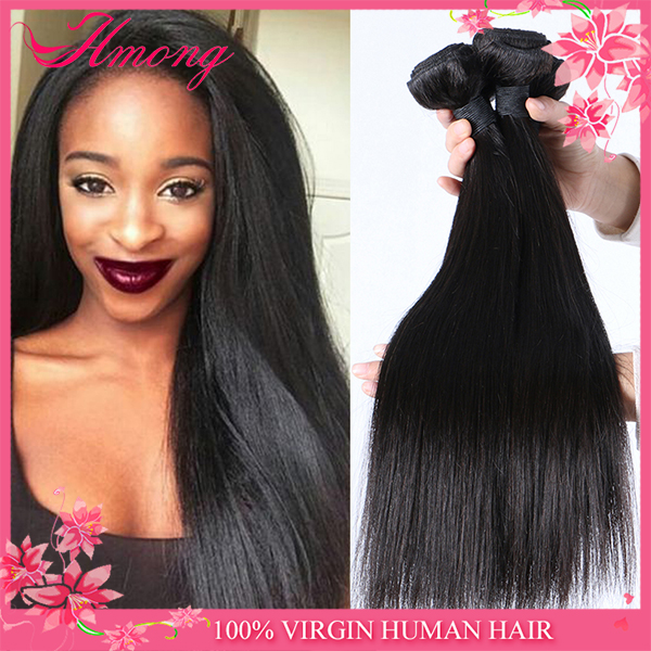 Raw Unprocessed Virgin Indian Hair Staight Indian Temple Hair For Sale