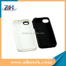 Phone case sublimation printing for iphone 4/4s,2 in 1 sublimation TPU cell/mobile phone case for iphone 4/4s