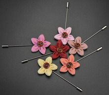 Men's Suits Flowers Brooches For Wedding Pin Up Insert Long Lapel Pins Vintage Mens Metal Brooches