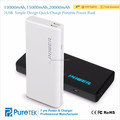 Factory Direct Wholesale 2 USB Quick Charge Power Banks10000mAh 20000mAh External Batteries with Touch Switch and Blue LED Logo