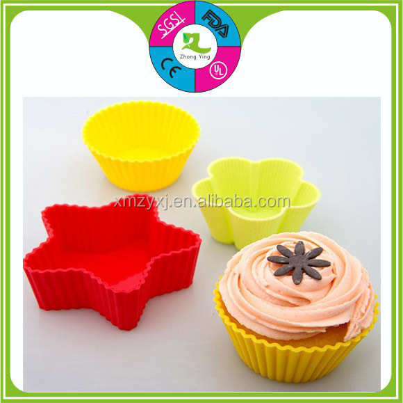 Heart Shape Silicone Chocolate Candy Cup Cake Baking Cups FDA free Molds Dessert Tool heart shape cake mold