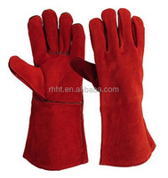 "14""/16'' long leather tig welding gloves supplier/Cow Split Leather welding gloves kevla, Kevla welding gloves price"