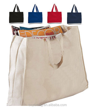 OEM cotton durable schol handbag large book thick canvas tote bag