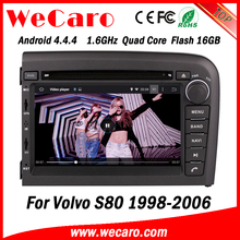 Wecaro WC-VL7061 Android 4.4.4 car stereo 1024 * 600 for volvo s80 car dvd radio WIFI 3G 16GB Flash 1998-2006