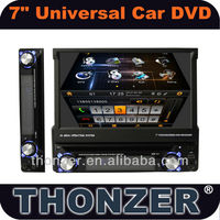 7 inch Universal One din Car GPS DVD with detachable Panel and 3D Sliding UI (TZ-DI716)