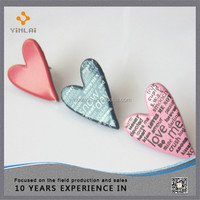 Decorative heart shaped metal brad for craft