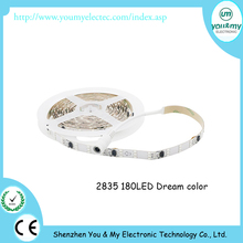 1903 IC <strong>RGB</strong> 180LED/M Dream Color 2835 Full Color Strip Three Row DC12V Strip