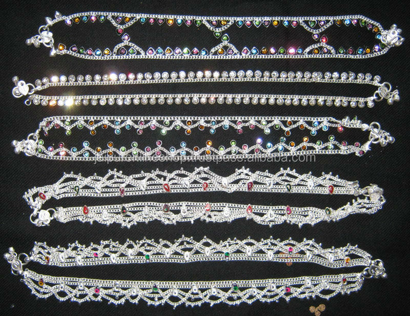 Metal anklet , Fashion Jewelry Stone Anklets Wholesale