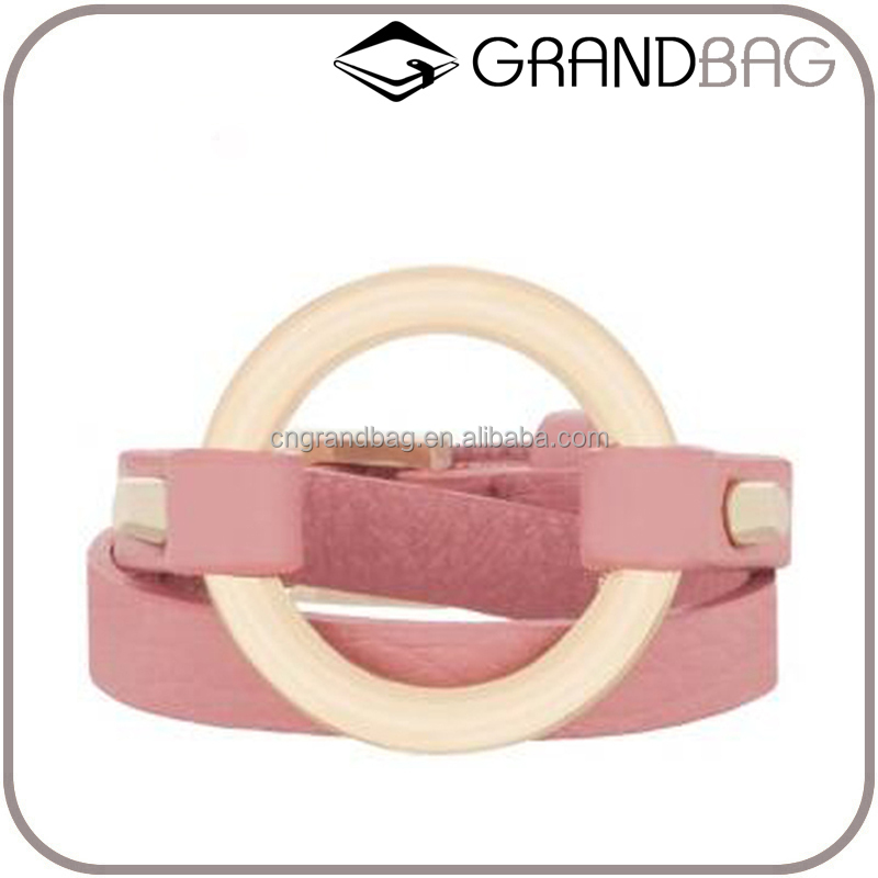 Hot Selling Handmade Real Leather Wristband & Leather Belt Bracelet Smart Bangle for Women