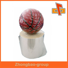 Blow molding artwork PVC clear heat shrink plastic film for basketball packaging