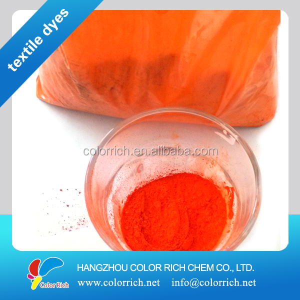 2016 Polyester dye Disperse Orange E-RL (C.I.NO. 25) permanent fabric dye