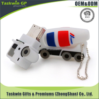 china supplier wholesale OEM 3D design flash drive plastic car shape hard drive 2.0 4GB/8GB usb flash memory