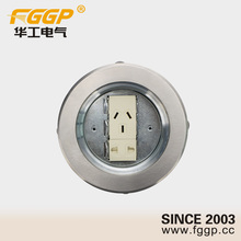Stainless Steel Electrical Floor Box Ground Outlet Socket with 2 pin & 3 pin Socket Outlet