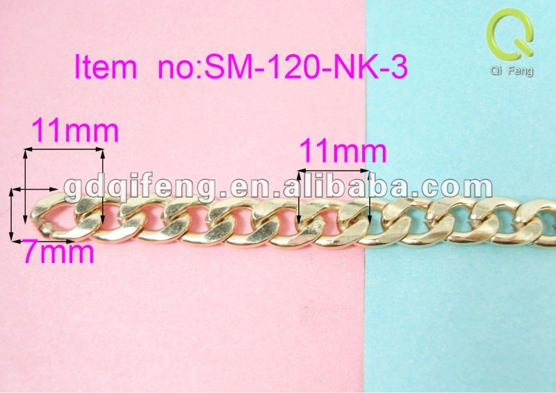 qifeng fashion purse parts ,case handle hardware clasp SM-120-NK-3