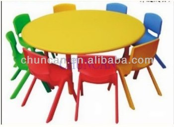 2016 chuncan hot selling kids plastic tables and chairs for