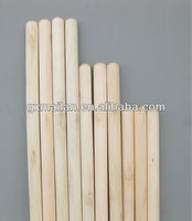 smooth surface natural wooden broom stick for broom&dustpans