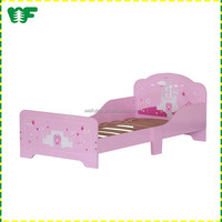 High quality wooden pink portable toddler bed