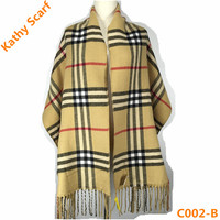 New Style 100% Acrylic Yellow Striped Scarf