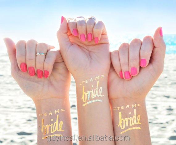 High quality gold foil stickers body decoration for hen party