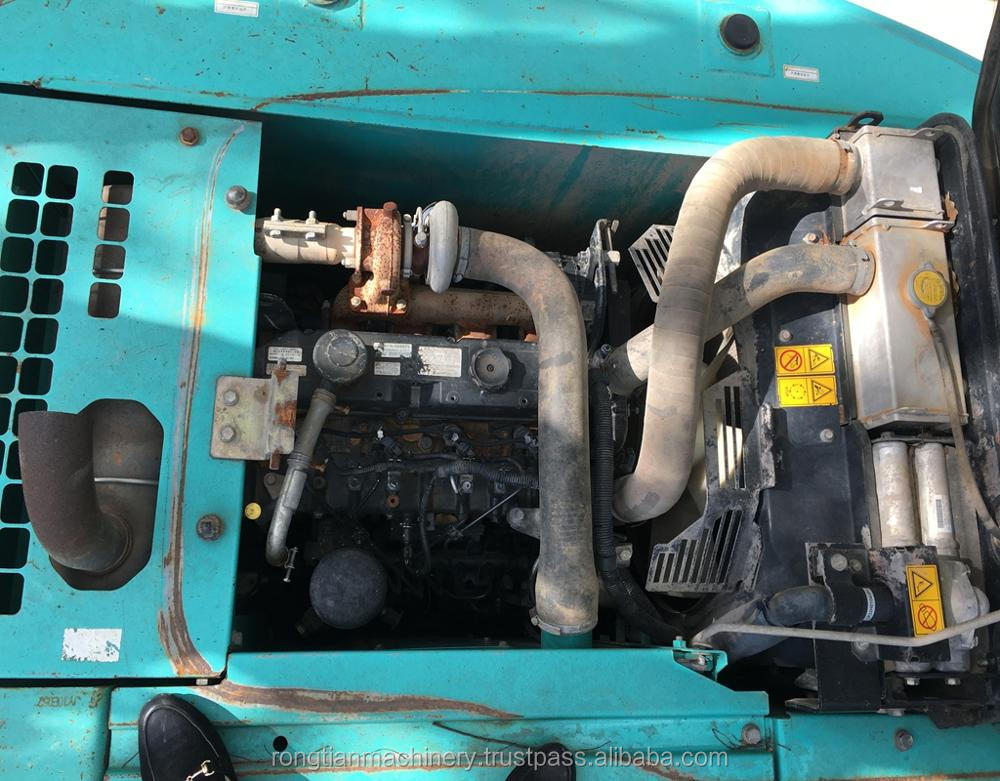 Running condition 14t Japanese used Kobelco SK140 excavator for sale in Shanghai site