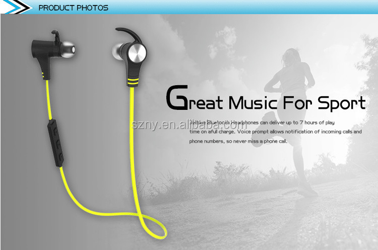 Wireless 4.1 Magnetic Earbuds aptX Stereo Earphones with Built-in Mic