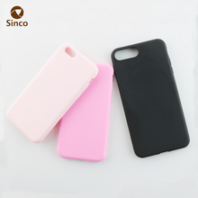 plain color soft tpu smart phone case pink silicon mobile case for iphone7