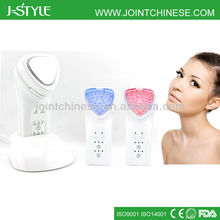 Professional Rechargeable IPL LED light photon galvanic microcurrent face massage tool