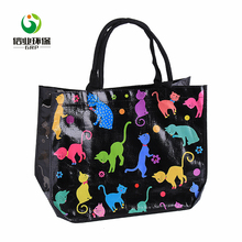 Natural recycled shopping use portable folding tote bags women medium