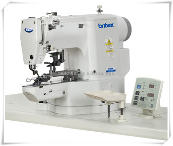 BR-438G Direct Drive Lockstitch Electronic Button Attaching Industrial Sewing Machine