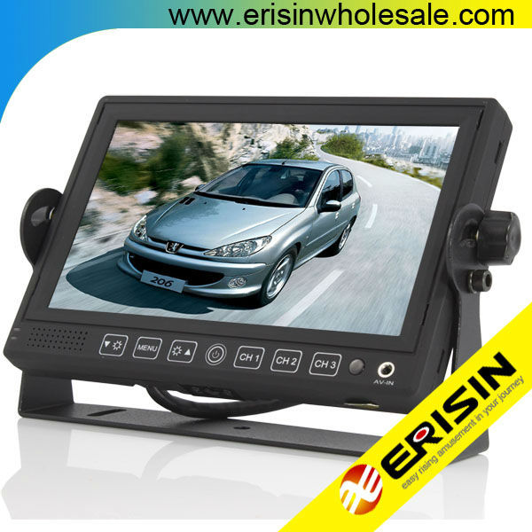 "ES312 Erisin Truck 7"" HD Color TFT LCD Monitor Sunvisor CCD Rear View Camera"