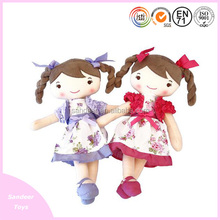 high quality plush children toys with dress