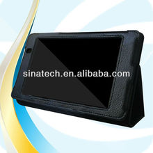 Black Folio Leather Cover Case for Google Asus Nexus 7 2 (new 2013 model),Leather Case for 2013 New Google Nexus 7