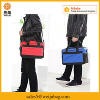 Custom take out boxes thermal food insulated waterproof folding fresh fruit lunch shoulder tote bag cooler