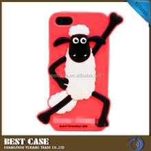 soft skin animal design back cover 3d silicon animal case for iphone 5c