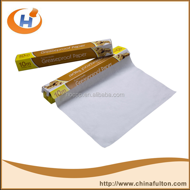 water proof & grease proof rolling paper for wrapping food GPP52 Fulton